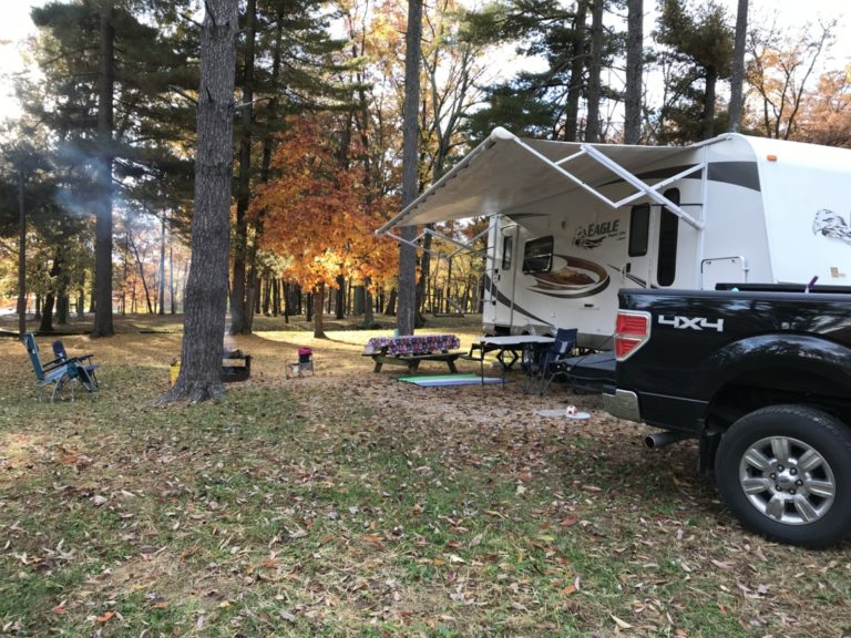 fall rv camping at lincoln state park