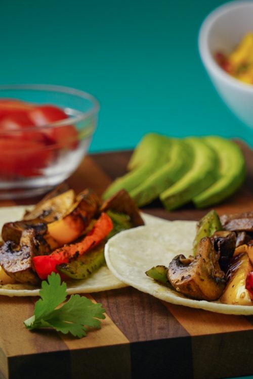 Mushroom & Pepper Fajita Tacos