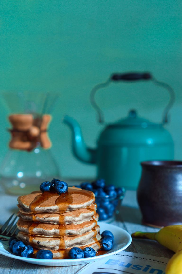 Blueberry Banana Oat Pancakes Recipe