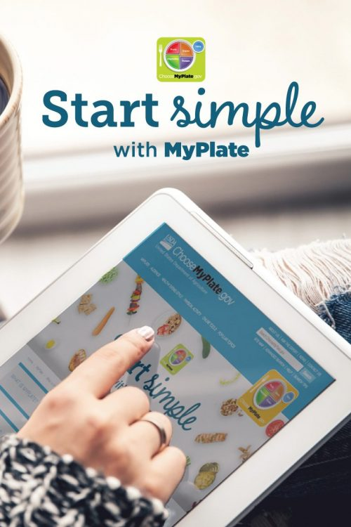 USDA's new start simple campaign with MyPlate
