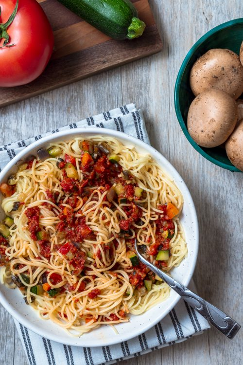 Vegetable Marinara & Pasta Recipe